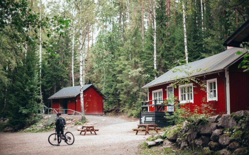 Canva - Red and White Wooden Houses Surrounded With Trees-min